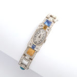 other view, Antique Diamond and Multi-gem Watch