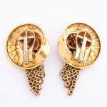 back, 1960s Ruby and Diamond Earrings by Van Cleef & Arpels