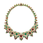 main view, 1950s Multi-Gem Necklace by Mauboussin