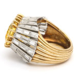 side view, 1950s Yellow Sapphire and Diamond Ring by Cartier Paris
