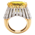 other view, 1950s Yellow Sapphire and Diamond Ring by Cartier Paris