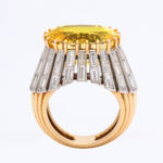 yellow sapphire ring, whole view