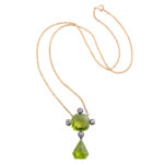 other view, Victorian Peridot and Diamond Pendant
