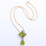 Victorian Peridot and Diamond Pendant