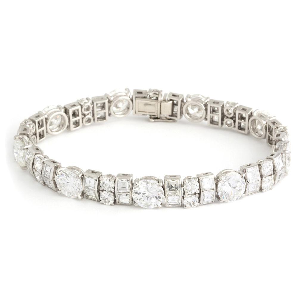 main view, Antique Diamond Bracelet