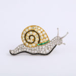 main view, 1920s Snail Brooch