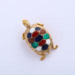 hardstone turtle pendant, angled view