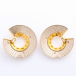 back, Cartier Two-Color Gold Earrings
