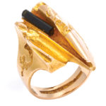 main view, 1970s Gold and Tourmaline Ring by Björn Weckström