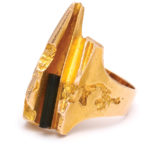 other view, 1970s Gold and Tourmaline Ring by Björn Weckström