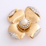 main view, 1960s Gold and Diamond Flower Brooch by Van Vleef & Arpels