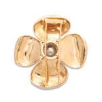 back, 1960s Van Vleef & Arpels Gold and Diamond Flower Brooch