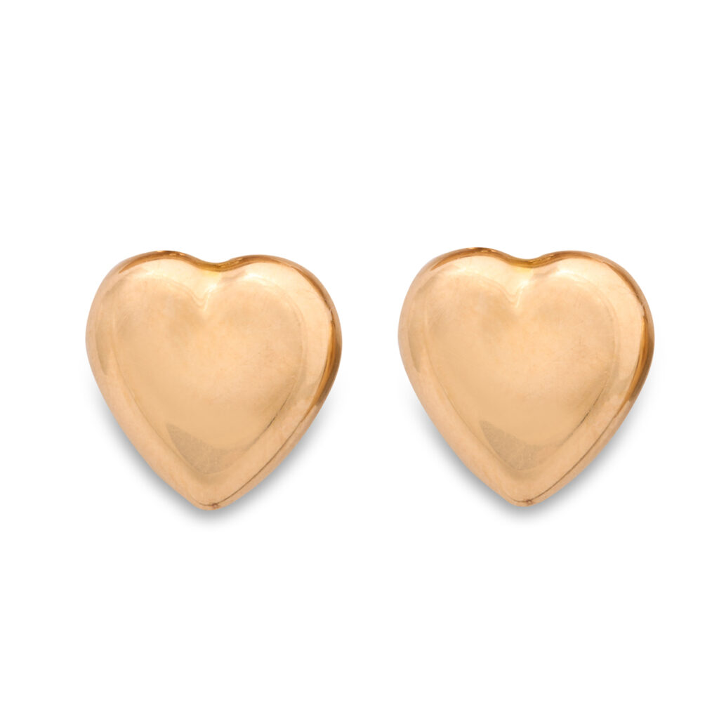 main view, Victorian Gold Heart Earrings