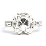other view, 1950s Cushion-cut Diamond Engagement Ring