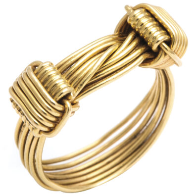 main view, 1960s Gucci Gold Wirework Ring