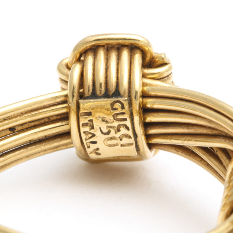 signature, 1960s Gucci Gold Wirework Ring