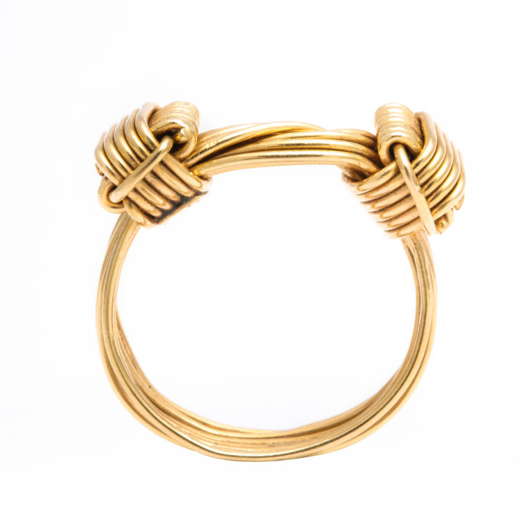 side view, 1960s Gucci Gold Wirework Ring