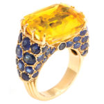 main view, 1950s Yellow Sapphire Ring by Cartier