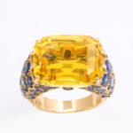 top view, 1950s Yellow Sapphire Ring by Cartier