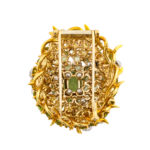back view, Peridot and Diamond Brooch by Schlumberger for Tiffany & Co.