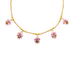 main view, Victorian Gold and Enamel Pansy Necklace