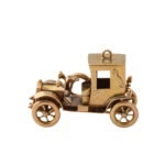 side view, Antique Gold Car Charm Pendant with top up