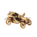 additional view, Antique Gold Car Charm Pendant with top down