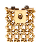 signature, 1950s Woven Gold and Diamond Bracelet by Cartier