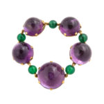 bracelet, 1950s Amethyst Necklace and Bracelet by Boivin