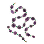 main view, 1950s Amethyst Necklace and Bracelet by Boivin