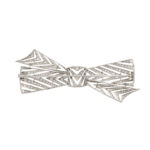back view, Diamond Bow Brooch by Janesich