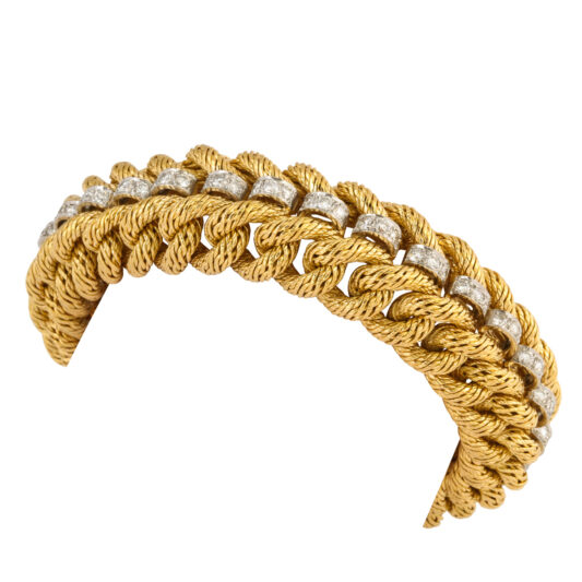 additional view, Gold Curb Link and Diamond Bracelet by Tiffany & Co.