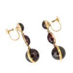 side view, Victorian Garnet Drop Earrings