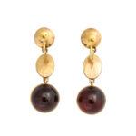 back view, Victorian Garnet Drop Earrings