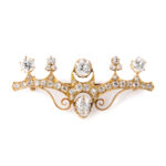 main view, Antique Russian Diamond Brooch