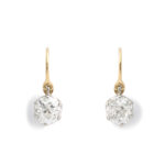 diamond drop earrings that go with the Victorian gold and enamel coach covers