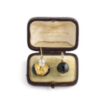 box view, Victorian Coach Cover Earrings