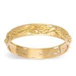 main view, Antique Gold Bangle Bracelet