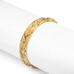 other view, Antique Gold Bangle Bracelet