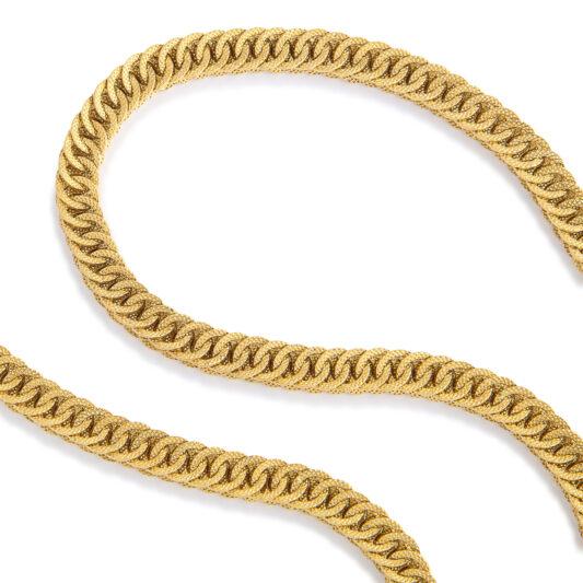 detail view, Antique 18k Box Link Gold Chain Necklace