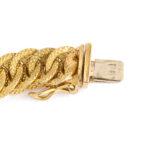 clasp detail, Antique 18k Box Link Gold Chain Necklace