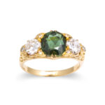 green color, Victorian Alexandrite and Diamond Ring