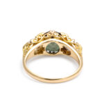 back view, Victorian Alexandrite and Diamond Ring