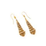 side view, Victorian Gold Archaeological Revival Earrings