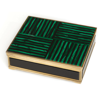 Janesich Malachite and Onyx Table Box