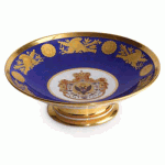 Coronation Service of Tsar Nicholas I: Porcelain Tazza by the Russian Imperial Porcelain Factory