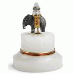 Fabergé Moss Agate Elephant Bellpush