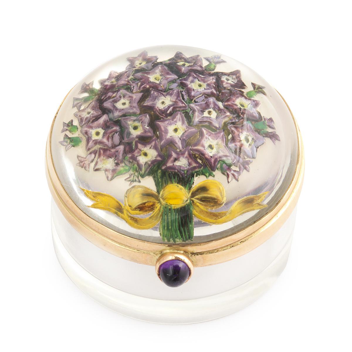 Victorian Reverse Crystal Box