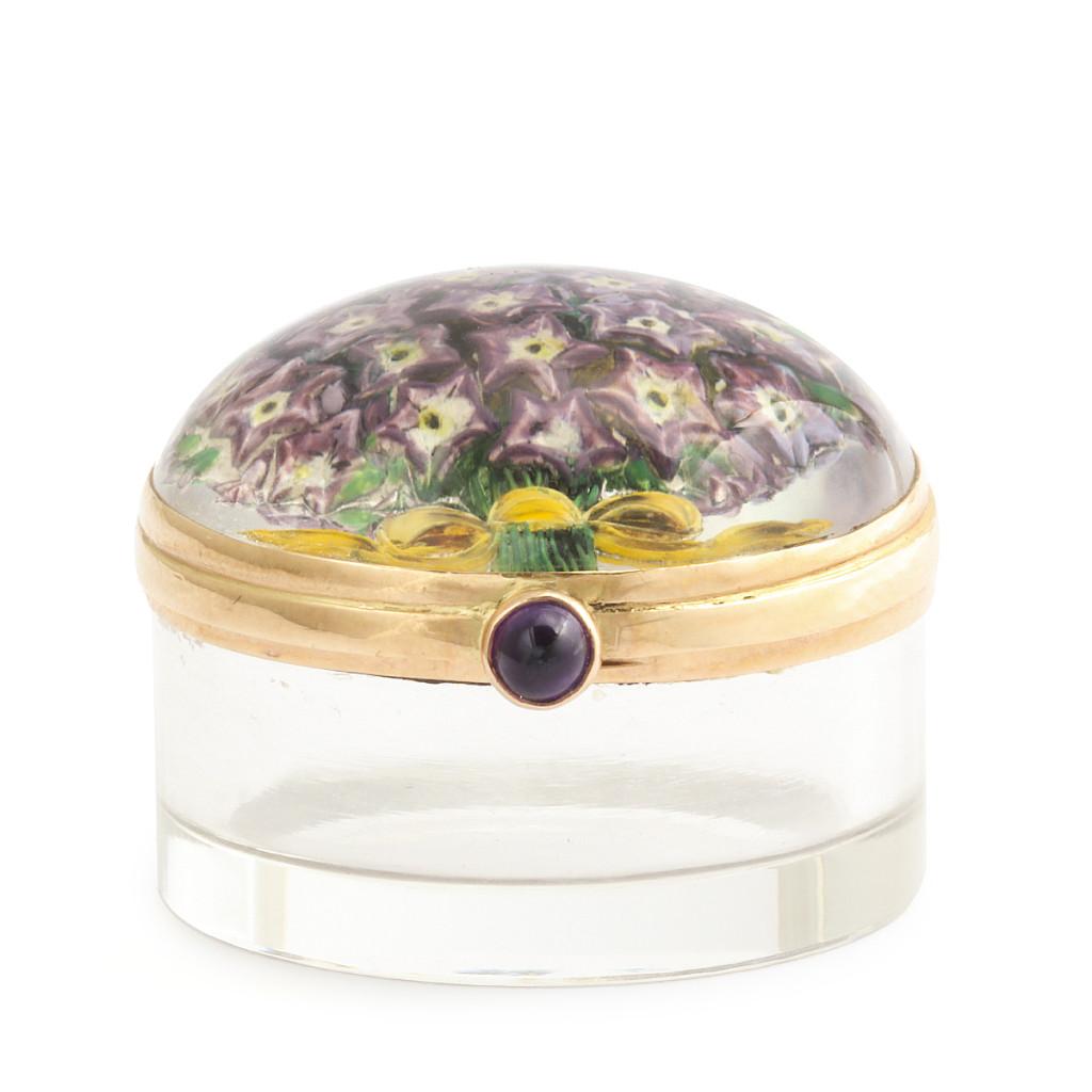 Victorian Miniature Reverse Crystal Box