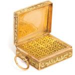 open view, Antique Gold and Turquoise Pendant Vinaigrette